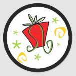 Merry Christmas Gift Exchange Round Stickers