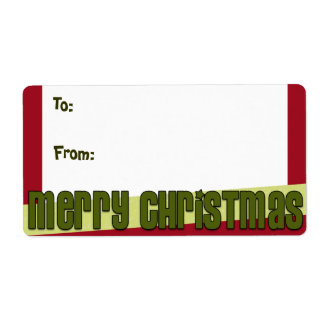 Merry Christmas Gift Labels - Large