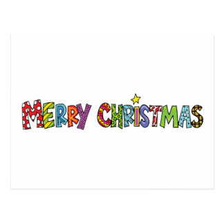 Merry Christmas Gift Postcard