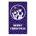 Merry Christmas Gift Tag Business Card Template