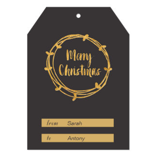 Merry Christmas Gift Tag Card
