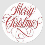 Merry Christmas!  Gift Tag Custom Round Stickers