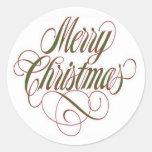 Merry Christmas!  Gift Tag Custom Sticker