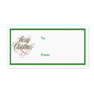 Merry Christmas! Gift Tag Label