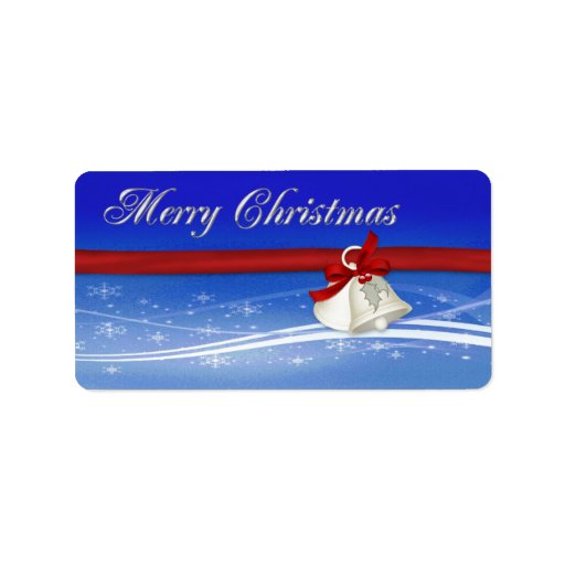 Merry Christmas Gift Tag Personalized Address Labels