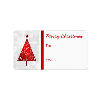 Merry Christmas Gift Tag Labels