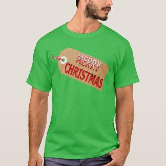 Merry Christmas Gift Tag Men's T-Shirt