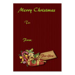 Merry Christmas Gift Tags Business Card Template