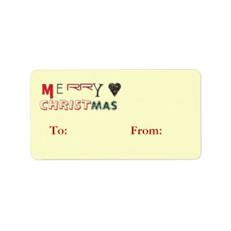 Merry Christmas Gift Tags Label