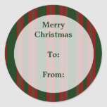 Merry Christmas Gift Tags Round Sticker
