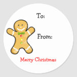 Merry Christmas gift tags Stickers