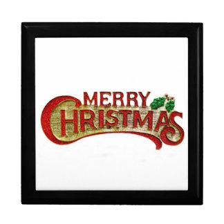 Merry Christmas Giftbox Trinket Box