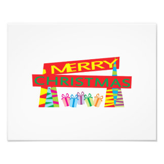 Merry Christmas Gifts Greeting Gift Wrapper Pillow Photograph