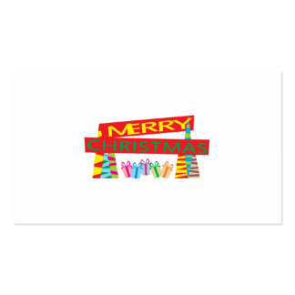 Merry Christmas Gifts Invitation Postage Label Art Business Card
