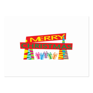 Merry Christmas Gifts Invitation Postage Label Art Large Business Card