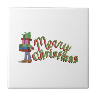 Merry Christmas Gifts Small Square Tile