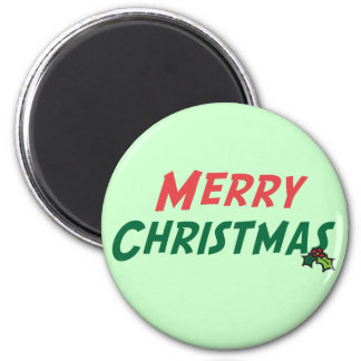 Merry Christmas Giftware 2 Inch Round Magnet