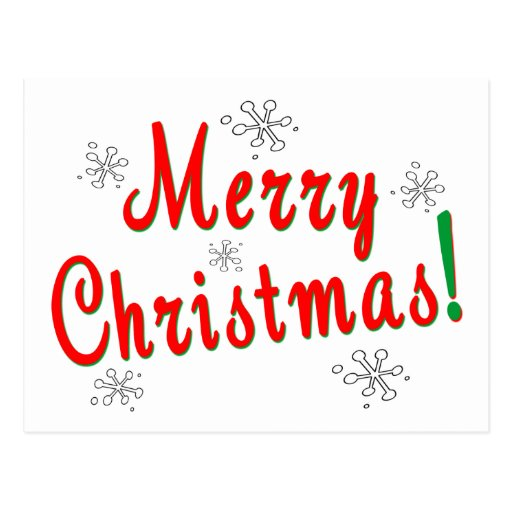 Merry Christmas Giftware Postcards