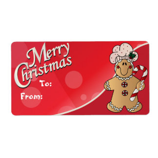 Merry Christmas Gingerbread Gift Tags