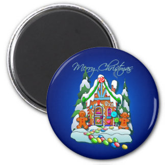 MERRY CHRISTMAS GINGERBREAD HOUSE by SHARON SHARPE Magnets