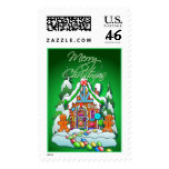 MERRY CHRISTMAS GINGERBREAD HOUSE by SHARON SHARPE Postage