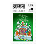 MERRY CHRISTMAS GINGERBREAD HOUSE by SHARON SHARPE Stamps