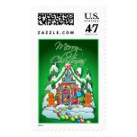 MERRY CHRISTMAS GINGERBREAD HOUSE by SHARON SHARPE Stamp