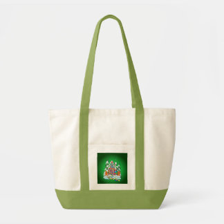 MERRY CHRISTMAS GINGERBREAD HOUSE by SHARON SHARPE Tote Bag