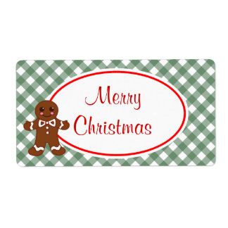 Merry Christmas Gingerbread Labels
