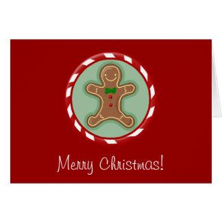 Merry Christmas Gingerbread Man Greeting Card