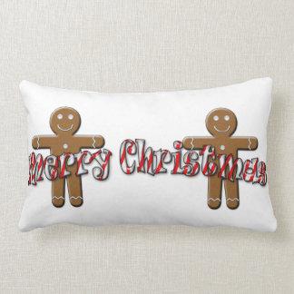 Merry Christmas - Gingerbread Man Pillow
