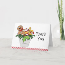 Merry Christmas Gingerbread Man Thank You Notes