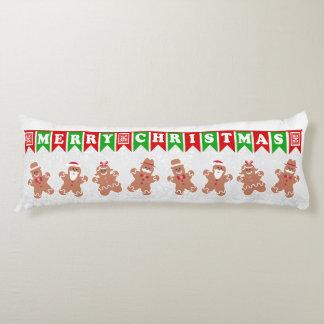 Merry Christmas Gingerbread Men Body Pillow