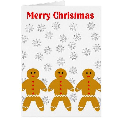 MERRY CHRISTMAS GINGERBREAD MEN CARD