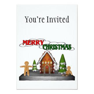 Merry Christmas Gingerbread Scene Card