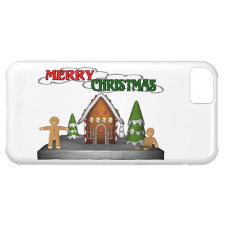 Merry Christmas Gingerbread Scene Case For iPhone 5C