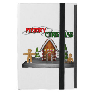 Merry Christmas Gingerbread Scene iPad Mini Covers