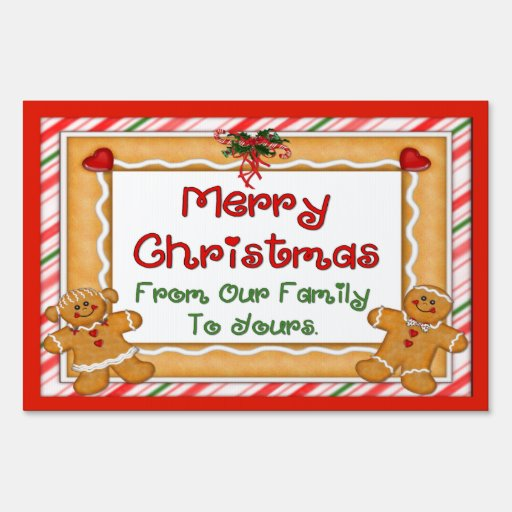 Merry Christmas Gingerbread Sign Zazzle