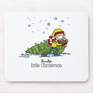 Merry Christmas Girl Mouse Pad