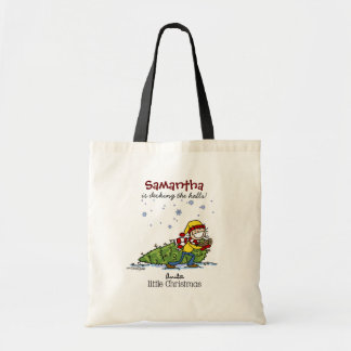 Merry Christmas Girl Tote Bag