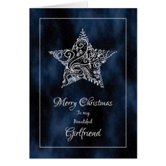Merry Christmas Girlfriend / Christmas Star Card
