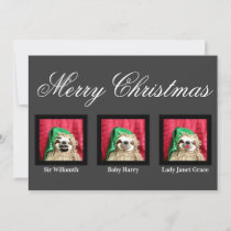 Merry Christmas Glam Family Fun Sloth Customizable Holiday Card