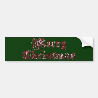 Merry Christmas Glitter Bumper Sticker