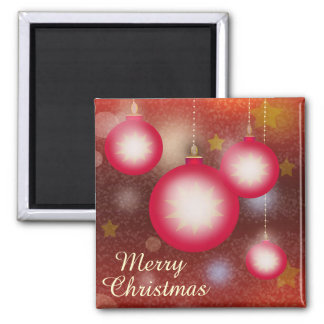 Merry Christmas Glowing Ornaments Magnet