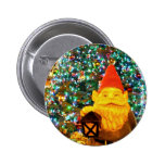 Merry Christmas Gnome Button