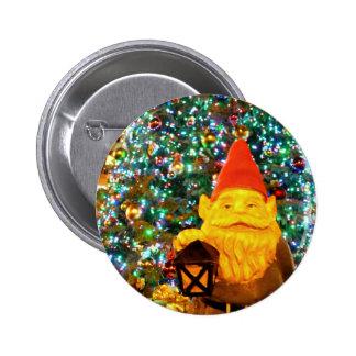 Merry Christmas Gnome Pinback Button