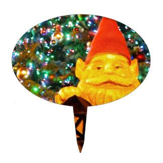 Merry Christmas Gnome Cake Topper