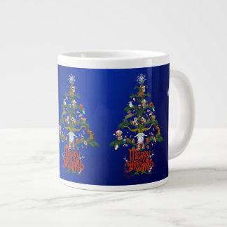 """Merry Christmas GOAT LOVER""""S Christmas TREE Large Coffee Mug"""
