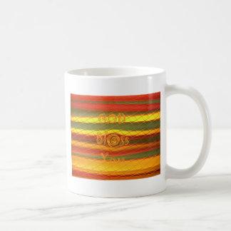 Merry Christmas God Bless You Colors Design Coffee Mug