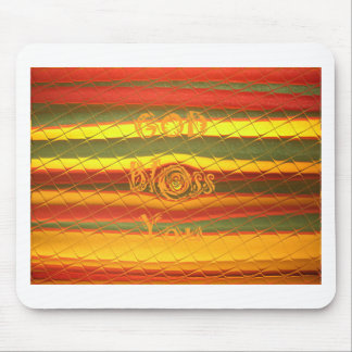 Merry Christmas God Bless You Colors Design Mouse Pad